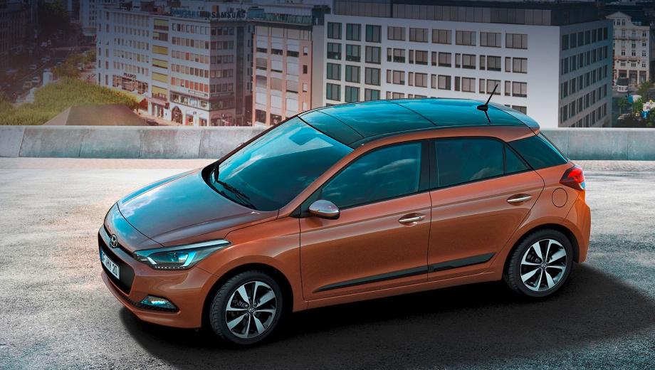 Hyundai i20. Компания Hyundai подчёркивает, что второе поколение хэтча i20 было разработано в Европе и отвечает потребностям тамошних потребителей по дизайну, вместительности, комфорту и технологиям.