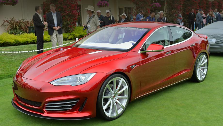 Tesla model s. Можно поспорить, красивее ли нос Теслы от Салина, чем у оригинала. Но во всяком случае среди собратьев он выделяется. Кроме того, новые бампер и капот служат практической цели: на высокой скорости они способствуют генерации прижимной силы.