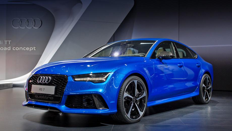 Audi rs7. Премьера обновлённой RS7 на публике состоится в августе на Московском автосалоне.