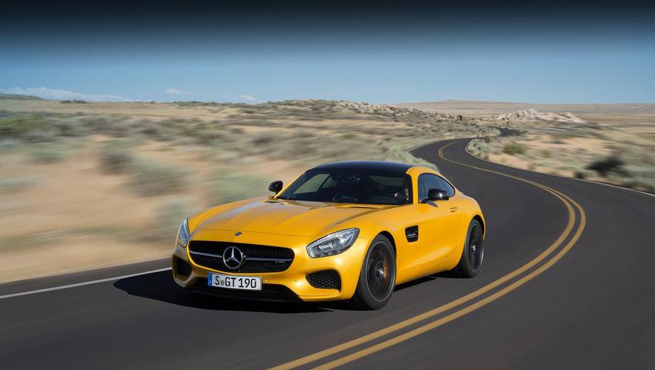 Mercedes amg,Mercedes amg gt. На всех рынках Mercedes-AMG GT будет продаваться в двух исполнениях —  базовом (462 л.с., 600 Н•м) и S (510 л.с. и 650 Н•м). Максимальная скорость ограничена электроникой: в первом случае GT развивает 304 км/ч, а во втором — 310. Обе модификации оснащаются только семидиапазонным преселективным «роботом».