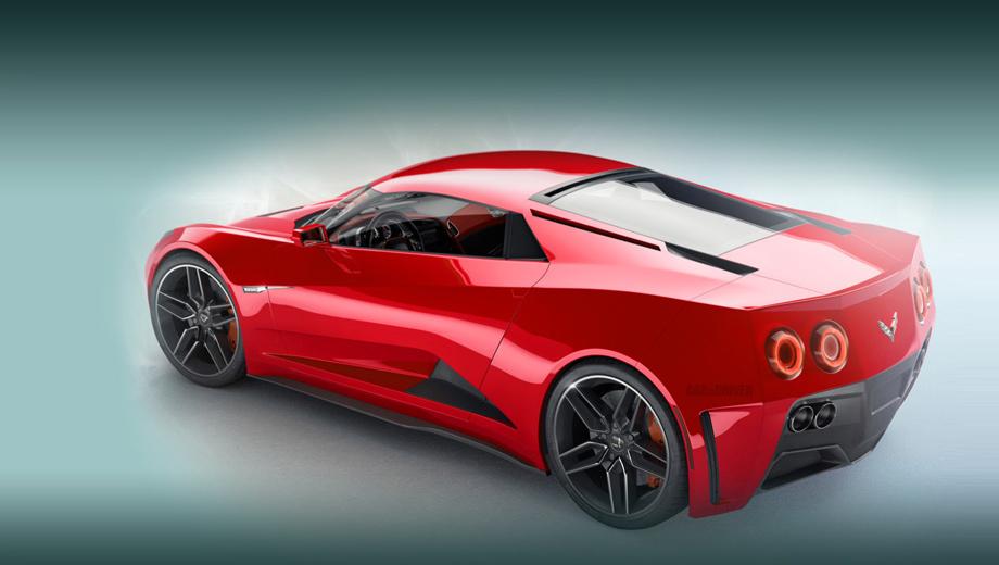 Chevrolet corvette,Chevrolet corvette zora zr1. В этом эскизе распознать Corvette можно, но уже с трудом. Главный вопрос — нужно ли Корвету радикально меняться, жертвуя традициями ради большей спортивности?