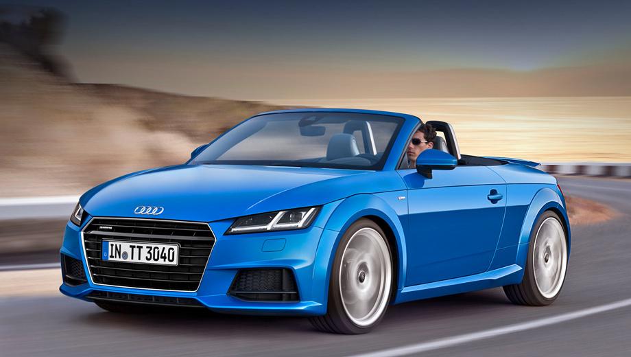 Audi tt,Audi tts,Audi tt roadster,Audi tts roadster. «Третий» TT Roadster поступит в продажу в Германии в день открытия Парижского автошоу в начале октября. Базовая цена — 37 900 евро (1,88 млн рублей). Для сравнения, TT Coupé там же стоит от 35 000 евро.