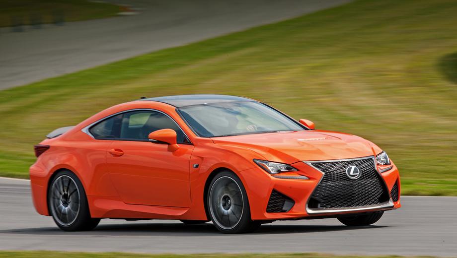 Lexus rc,Lexus rc f. Цены уже известны: за Lexus RC 350 просят 2,7 млн рублей, подогретый F-Sport на 200 тысяч дороже. А восьмицилиндровый спорткар RC F, как на фото, стоит 3,9–4,2 млн рублей, в зависимости от комплектации. Конкуренты дешевле.
