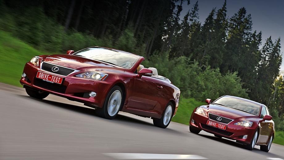 Lexus is,Lexus is cabrio,Lexus iscabriodt. Это не дуэль: дорестайлинговый седан поможет нам лучше разобраться в ездовом характере купе-кабриолета, занявшего в линейке Лексуса место между модификациями IS 250 и IS F.