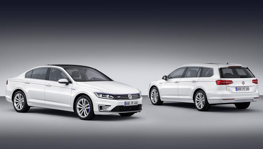 Volkswagen passat,Volkswagen passat gte. Отличительные особенности новой версии: синяя полоса на решётке радиатора, оригинальный передний бампер с С-образными дневными ходовыми огнями (как на Гольфе GTE и электрокаре e-Golf), 17-дюймовые колёсные диски Astana и, разумеется, шильдики GTE.