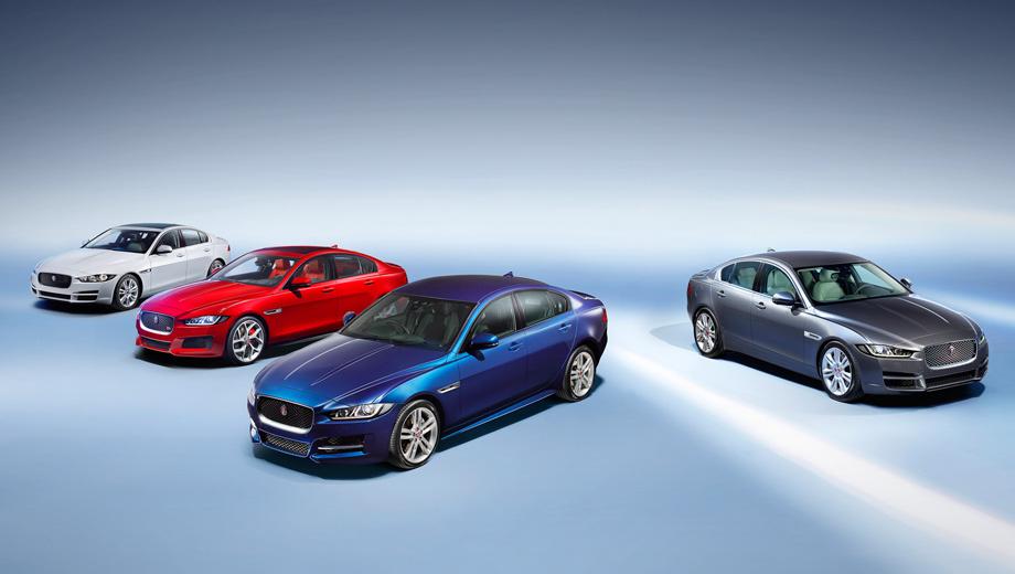 Jaguar xe. Наряду с пятью моторами разнообразие вариантов Ягуара обеспечат версии Pure, R-Sport, S, Prestige и Portfolio, отличающиеся списком оборудования, отделкой салона и рядом внешних деталей.