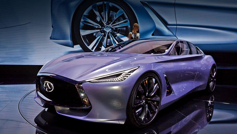 Infiniti q80,Infiniti inspiration. По мнению компании, концепт Q80 Inspiration — лишь часть предстоящей работы. По плану, в течение пяти лет линейка моделей увеличится на 60%, а количество двигателей и трансмиссий удвоится.