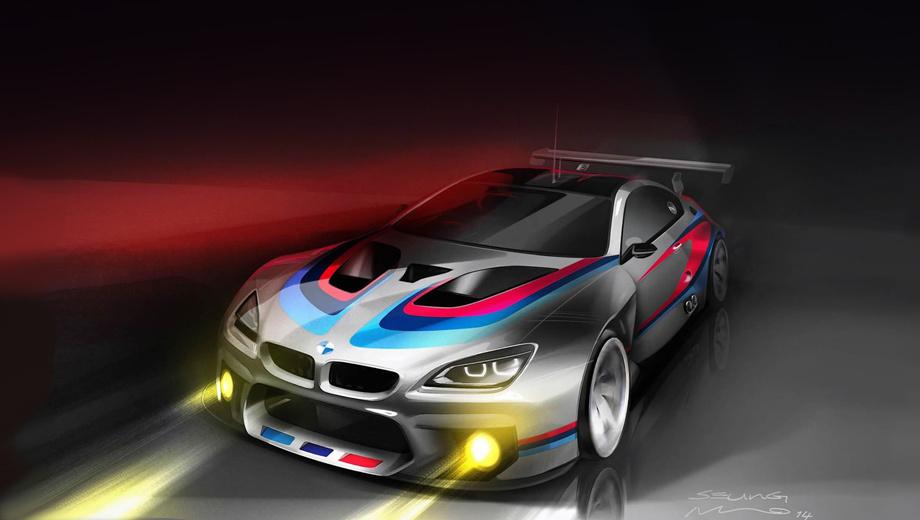 Bmw m6,Bmw m6 gt3. Пока есть только скетчи M6 GT3, машину живьём покажут не раньше лета следующего года.