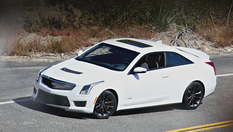 Cadillac ats,Cadillac ats-v,Cadillac ats-v coupe. «Заряженная» модель Cadillac ATS-V Coupe получила оригинальную решётку радиатора, новый бампер с развитым сплиттером и вентиляционные прорези в крышке капота.