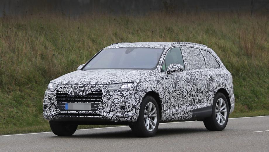 Audi q7. Лишь общий контур напоминает о предшественнике. Но сколько появилось новых деталей. Взять хотя бы треугольные окошки в передних дверях и зеркала на ножках, растущих не из уголка окна, а из дверной панели, — как сейчас на Кайене.