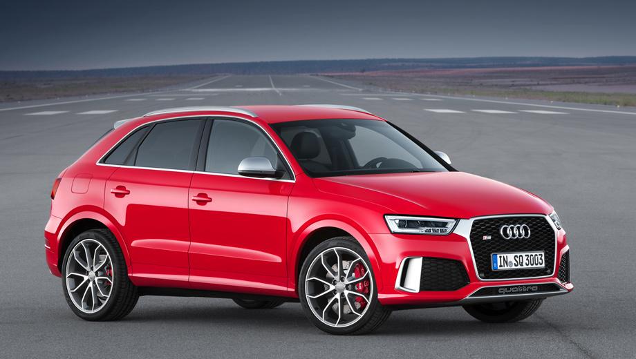 Audi q3. «Заряженный» кроссовер Audi RS Q3 стал мощнее на 30 л.с., его прайс-лист начинается с 2 630 000 рублей, правда, автомобиль будет доступен для заказа только в первом квартале следующего года.