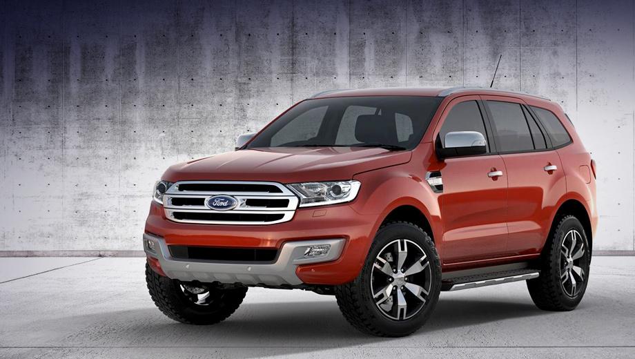 Ford everest. В линейке Ford новинка займёт место внедорожника Ford Territory, производство которого должно быть остановлено в 2016 году.