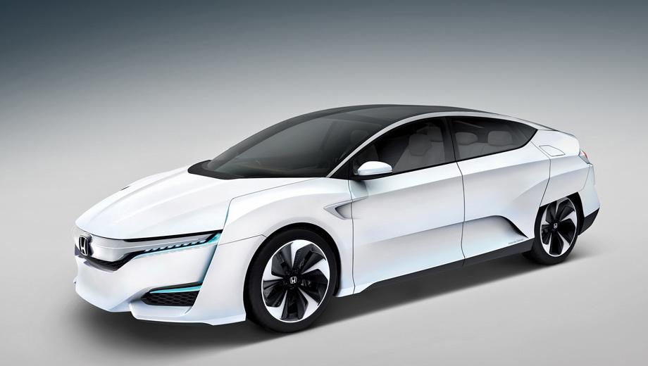 Honda fcv. Заложенная в названии аббревиатура FCV расшифровывается просто: fuel-cell vehicle — автомобиль на водородных топливных элементах. Его созданием и развитием хондовцы занимаются уже лет 25 и неоднократно становились первыми в мире на этом поприще. Главным их конкурентом выступает Toyota с седаном FCV, только что официально переименованным (не из-за Хонды ли?) в Mirai.
