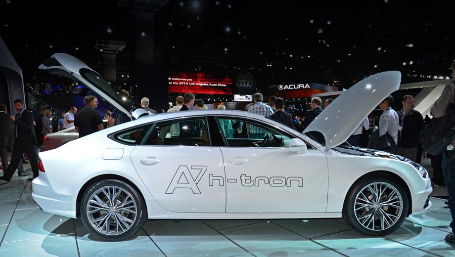 Audi a7,Volkswagen golf,Volkswagen passat. Водородная «семёрка» Audi даром что концепт, но теоретически готова к серийному выпуску и вполне пригодна для повседневной эксплуатации. Кто там беспокоился, что топливные элементы могут быть капризны? Немцы говорят —  применённые тут ячейки спокойно запускаются в работу даже после долгой стоянки на улице при минус 28 градусах по Цельсию.