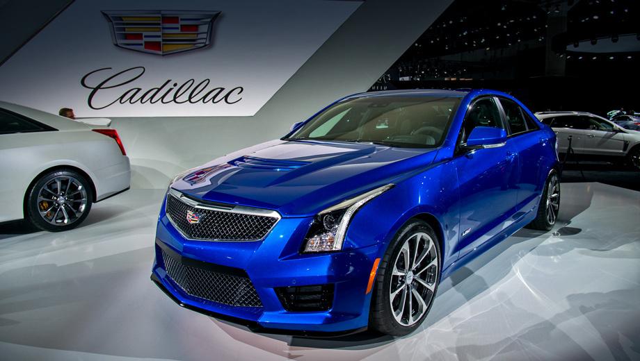 Cadillac ats,Cadillac ats-v. Автомобиль получил аэродинамический пакет, который генерирует прижимную силу, эквивалентную 45 кг, на скорости 240 км/ч.