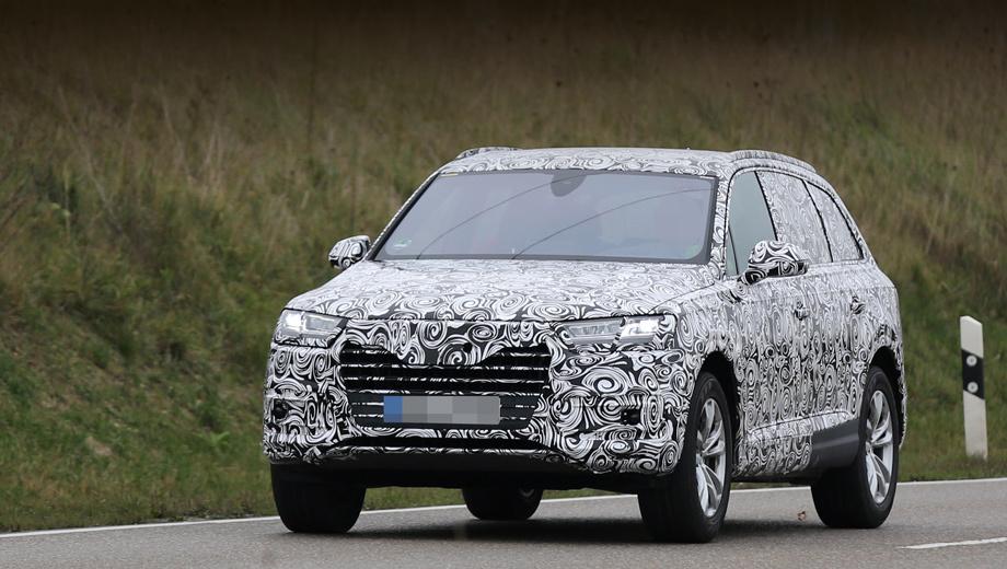 Audi q7. Премьера новинки состоится либо уже в январе в Детройте, либо в марте в Женеве.