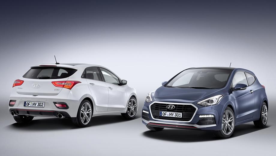 Hyundai i30,Hyundai i30 turbo,Hyundai i40. Версия Turbo выглядит, конечно, наряднее обычных i30. Правда, назвать хэтчбек по-настоящему «заряженным» нельзя — всё-таки слабоват мотор и скромны динамические характеристики.