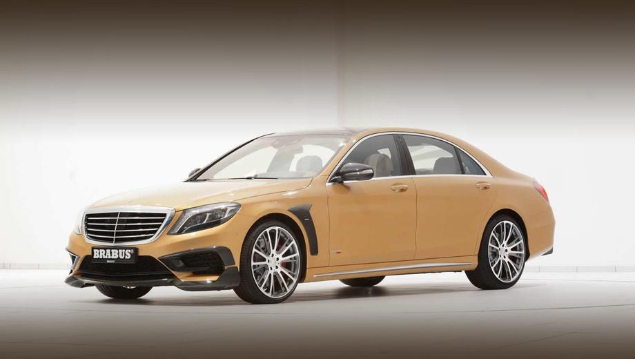 Mercedes s. Для самой свежей вариации «эски» тюнеры выбрали очень спорную схему окраски: основной цвет золотисто-бежевый  с чёрными углепластиковыми элементами. Почему-то на ум приходят некоторые творения Mansory.
