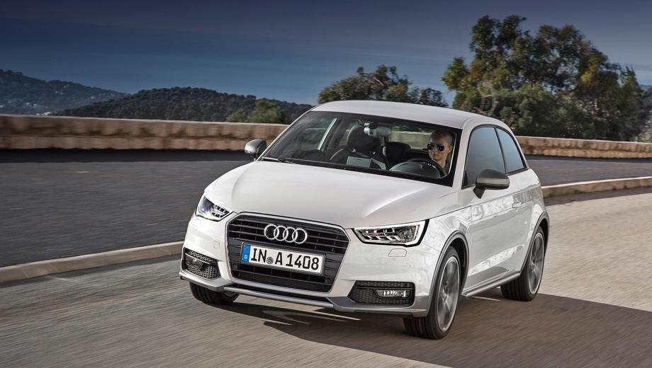 Audi a1. И без нового стайлинг-пакета у Audi A1 вполне широкая программа индивидуализации внешности. Клиенты могут заказать два вида спортпакетов (S line и Competition Aerodynamik), контрастную окраску кузова и различные аппликации. С конца 2010 по ноябрь 2014 года в России продали 5121 хэтчбек.