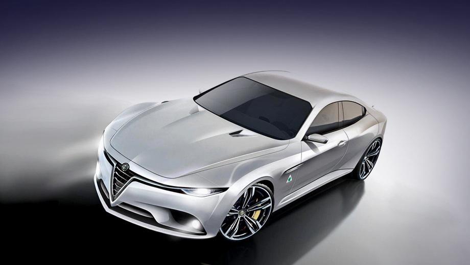 Alfaromeo giulia. Модель Tipo 952 сегмента D (показан неофициальный эскиз) сначала называли Giulia, но, по последней информации, для серийной машины всё же подберут какое-то другое имя. Презентация седана состоится 24 июня 2015 года, в день 105-й годовщины со дня основания Альфы Ромео, а в продажу он выйдет в первой половине 2016-го.