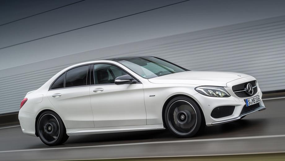 Mercedes c. Внешнее сходство с подлинной AMG-моделью неслучайно. На варианте AMG Sport стоит не только аэродинамический обвес подражающий внешности восьмицилиндровой «цешки» AMG, но и кое-что из её техники.
