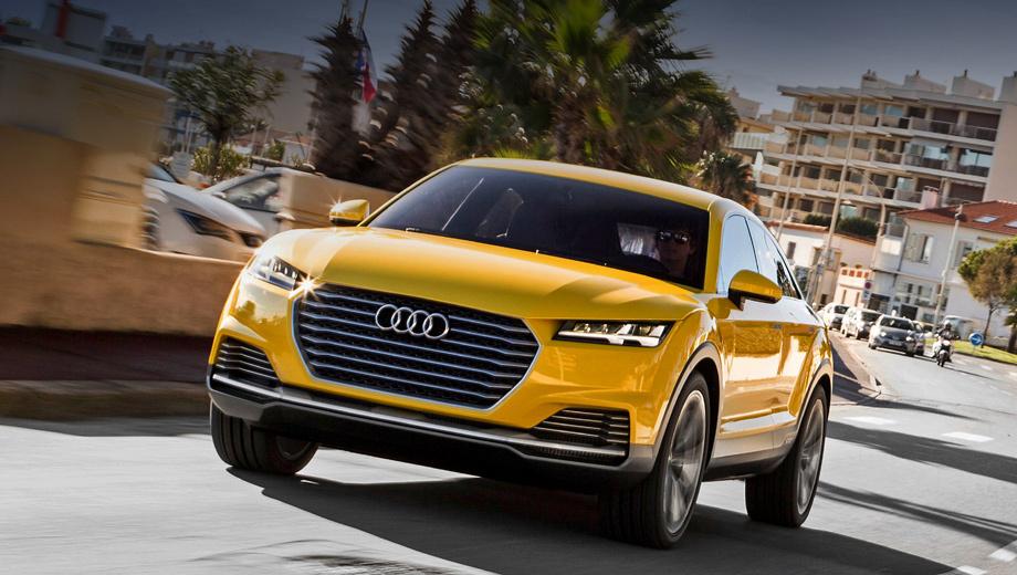 Audi ttq. Габаритные размеры серийной машины неизвестны, шоу-кар насчитывал 4,39 м в длину, 1,85 — в ширину и 1,53 — в высоту.