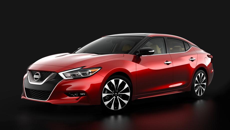 Nissan maxima. Новинка подражает концепту Sport Sedan, хотя и не копирует его полностью. Вышло ярко и, конечно, спорно, но хотя бы не так скучно, как в предыдущем поколении.