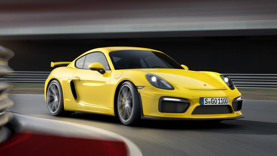 Porsche cayman,Porsche cayman gt4. Новинку отличают расширенные воздухозаборники. Развитый сплиттер и крупное неподвижное антикрыло генерируют прижимную силу большую, чем у какого-либо Каймана.