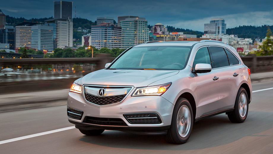 Acura mdx. Рестайлинговая модель обозначена 2016 Acura MDX и предлагается по ценам от $42 865 до $57 080.