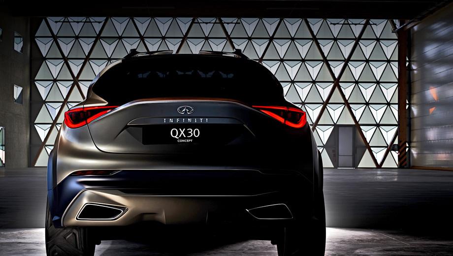 Infiniti qx30. По словам создателей кроссовера Infiniti QX30, он призван возродить премиум-сегмент компактных автомобилей «с отличительным подходом к дизайну, выходящему за рамки ожидаемого».