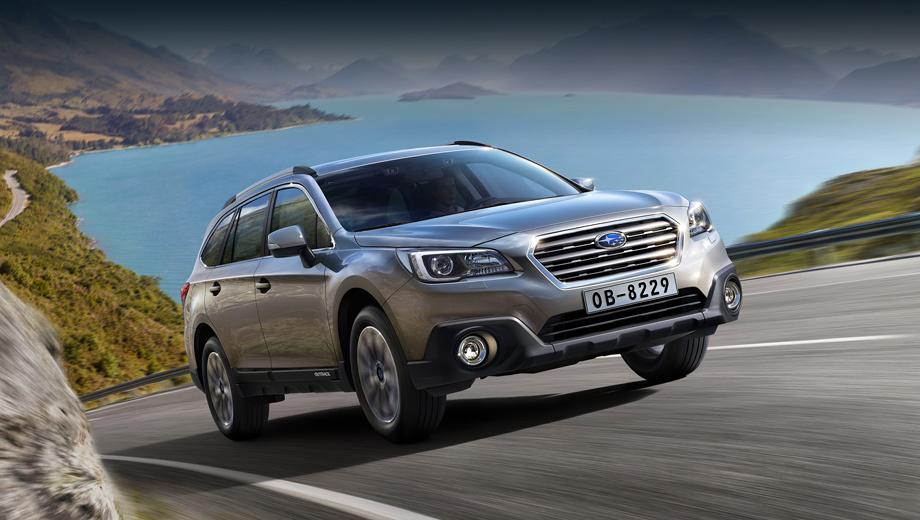 Subaru forester,Subaru outback,Subaru levorg. Европейский Outback от ранее представленного «американца» проще всего отличить по передней оптике.