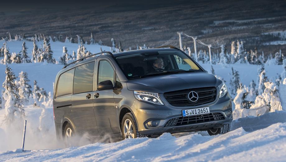Mercedes vito. В России Vito представлен как грузовой фургон и пассажирская модель Tourer (полное остекление и до девяти мест в салоне), а в Европе есть и промежуточный вариант Mixto.