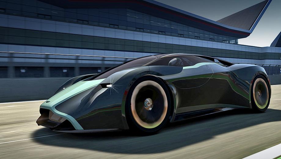 Aston martin vulcan. Производитель не предъявил и кусочка Вулкана, так что о творящемся в головах астоновских дизайнеров можно судить лишь по недавним концептам. К гиперкару наиболее близок виртуальный DP-100 Vision Gran Turismo, показанный летом прошлого года. Никто всерьёз не ждёт, что машина из видеоигры повлияет на серийную модель, но чем чёрт не шутит!