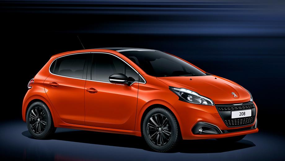 Peugeot 208,Peugeot 208 gti. Цветовая гамма «двести восьмого» пополнилась новым оранжевым оттенком. Кроме того, для хэтчбеков предложат другие по дизайну колёсные диски.