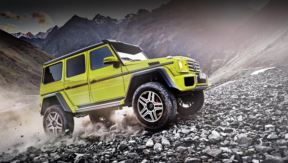 Mercedes g,Mercedes g 500 4x4. Заметно расширенные крылья, впечатляющий клиренс, бампер от G 63 AMG, светодиодная «люстра» на крыше — отличительные особенности новой модели.