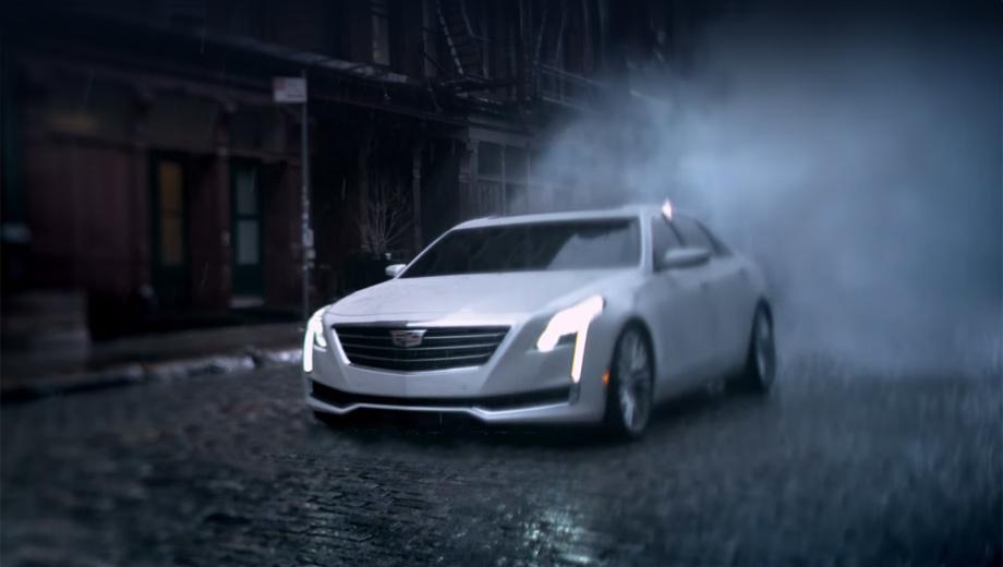 Cadillac ct6. Стиль последних моделей Cadillac распознаётся моментально — даже по нечёткому изображению. Но это не «раздутый CTS», так как вся основа оригинальная.