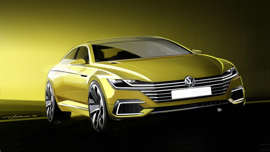 Volkswagen passat cc,Volkswagen sport coupe concept gte. Посмотрите на эту нехарактерную для Фольксвагена решётку радиатора, словно наползающую на бампер. Главный дизайнер Фольксвагена Клаус Бишоф назвал этот шоу-кар проблеском нового дизайнерского языка бренда.