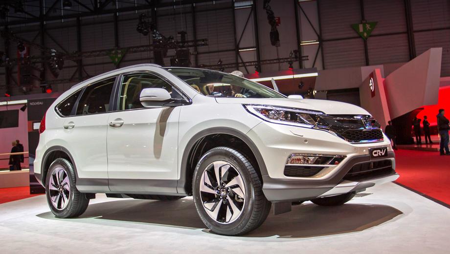 Honda cr-v,Honda hr-v,Honda jazz. Обновлённый европейский паркетник CR-V на автошоу в Париже будет числиться лишь прототипом. Но в следующем году в серию, скорее всего, пойдёт именно такой вариант.