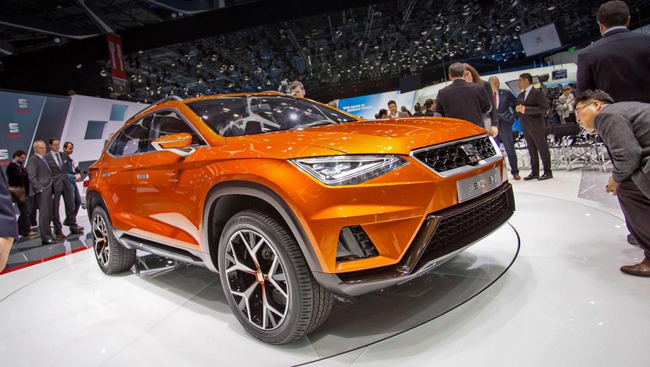 Seat concept,Seat 20v20. Габаритная длина новинки составляет 4659 мм, размер колёсной базы равен 2791 мм. Дорожный просвет кроссовера — 228 мм. Создатели говорят, что серийная машина окажется чуть компактнее прототипа.