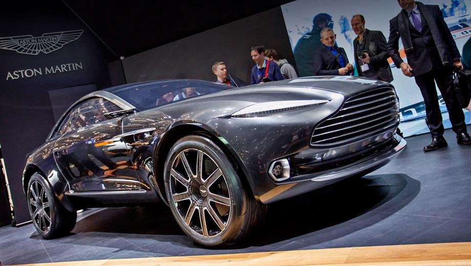 Aston martin dbx,Aston martin concept. Облик концепта проектировала команда Марека Райхмана, шеф-дизайнера Астона. Как водится в таких случаях, отдельные элементы внешности могут быть перенесены на будущие серийные модели. Но куда важнее понять, окажется ли серийным сам концепт.