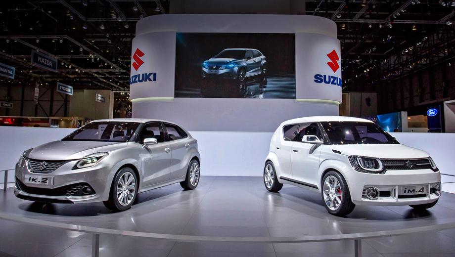 Suzuki im4,Suzuki ik2. На этой фотографии видно, что iK-2 выглядит куда ближе к серийной модели, чем iM-4.