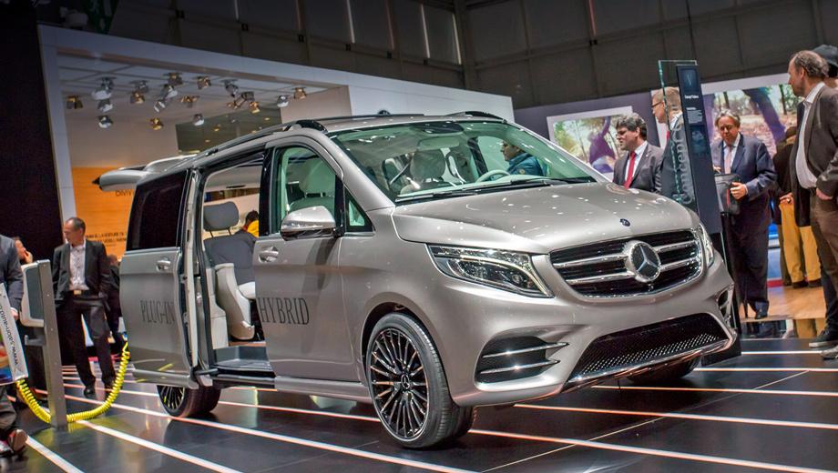 Mercedes v,Mercedes v-vision. Анфас концептуальный V-класс отличается от серийной машины лишь слегка модернизированным передним бампером.