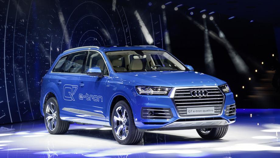 Audi q7. Дизель-гибрид Q7 e-tron quattro выйдет на европейский рынок только весной 2016 года.