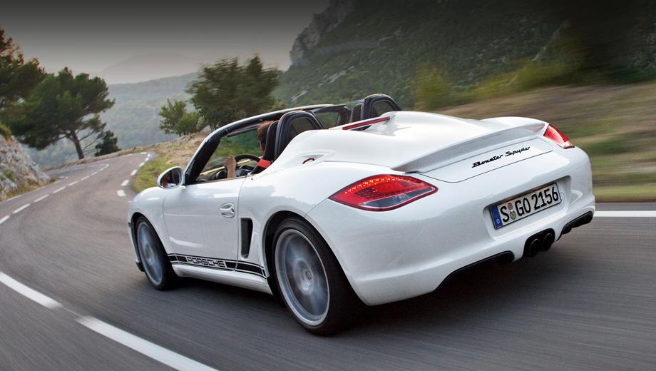 Porsche boxster,Porsche boxster spyder,Porsche macan,Porsche macan gts. В прошлом поколении у Бокстера была модификация Spyder (2009), основанная на версии S, но легче её на 80 кг и мощнее на 10 л.с.