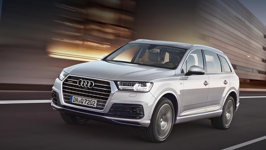 Audi q7. Кроссовер с бензиновым мотором разменивает сотню за 6,1 с, а с дизельным — на 0,4 с медленнее.