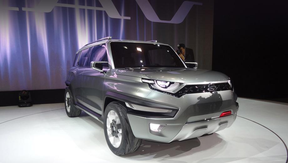 Ssangyong xav,Ssangyong concept. Имя концепта расшифровыватся как eXciting Authentic Vehicle — «захватывающий аутентичный автомобиль».