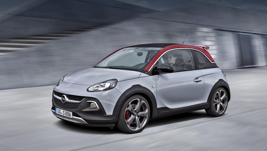 Opel adam rocks s,Opel adam. Забавно, но в Роксе клиренс был увеличен на 15 мм, а спортивный Rocks инженеры занизили на те же 15 мм. То есть фактически вернули дорожный просвет к исходному (125 мм). Но только теперь здесь — более жёсткая спортивная подвеска, чем у обычного Адама.