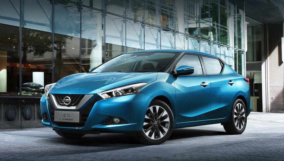 Nissan lannia. Дверные ручки, зеркала, колёсные диски, оптика — эти детали изменены. В целом почти все линии заимствованы у шоу-кара.