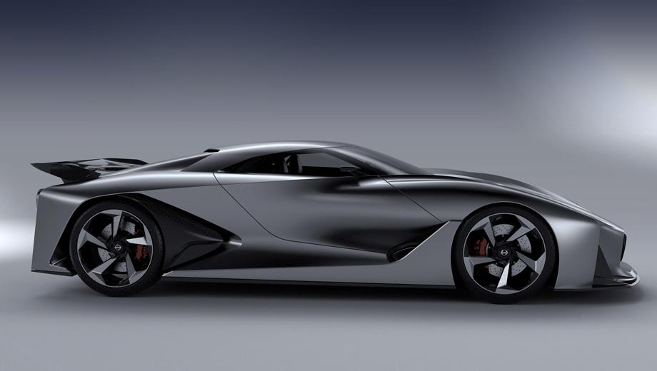 Nissan gt-r. Ниссановский суперкар Concept 2020 Vision Gran Turismo дебютировал в прошлом году. Считается, что следующее купе GT-R унаследует от этого концепта некоторые черты — в частности, элементы оформления носа и кормы. Но компоновка будет иной.