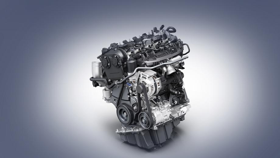 Audi a4. Новый мотор весит менее 140 кг. В нём применено несколько технологий снижения расхода горючего и маловязкое масло 0W-20. Ещё тут установлен впускной коллектор, интегрированный в головку блока.